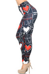 Creamy Soft Heart and Love Leggings - USA Fashion™