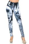 Brushed Graphic Skeleton Resurrection Leggings - USA Fashion™