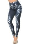 USA-Creamy Soft Black Bio Mechanical Skeleton Leggings (Steam Punk) - USA Fashion™