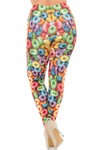 Creamy Soft Colorful Cereal Loops Extra Plus Size Leggings - 3X-5X - USA Fashion™