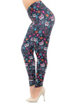 Creamy Soft Sugar Skull Kitty Cats Plus Size Leggings - USA Fashion™