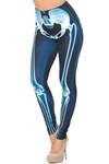 Creamy Soft Radioactive Skeleton Bones Leggings - USA Fashion™