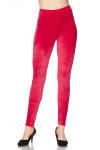Solid Brushed Velour Velvet Plus Size Leggings