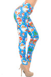 Creamy Soft Festive Blue Christmas Leggings