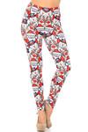 Creamy Soft Frosty Santa Rudolph Leggings
