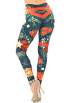 Creamy Soft Christmas Bows and Wreath Plus Size Leggings - USA Fashion™