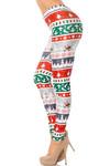 Festive Holiday Country Christmas Leggings