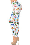 Wonderful Festive Christmas Leggings - White