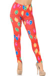 Ruby Red Colorful Christmas Lights Leggings - Plus Size