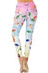 Ombre Christmas Lights High Waisted Leggings - Plus Size