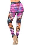 Creamy Soft Rainbow Brick Plus Size Leggings - USA Fashion™