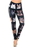 Creamy Soft Cute Kitty Cat Faces Plus Size Leggings - USA Fashion™