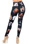 Creamy Soft Cute Puppy Dog Faces Extra Plus Size Leggings - 3X-5X - USA Fashion™