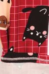 Brushed Cartoon Kitty Cats Plus Size Leggings