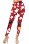 Brushed Cartoon Kitty Cats Extra Plus Size Leggings - 3X-5X