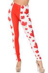 Creamy Soft Canadian Flag Leggings