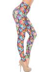 Creamy Soft Venetian Hearts Extra Plus Size Leggings - 3X-5X