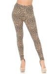 Brushed  Savage Leopard Plus Size Leggings