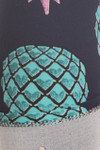 Buttery Soft Teal Pineapple High Waisted Plus Size Capri - EEVEE