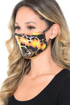 Neon Colorcade Metallic Gold Fashion Face Mask - Made in USA