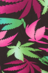 Buttery Soft Fuchsia Marijuana Plus Size Leggings