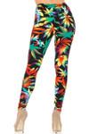 Buttery Soft Rainbow Marijuana Leggings