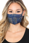 Blue Copper Infused Camouflage Face Mask