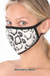 White Side Snakeskin Face Mask - Imported