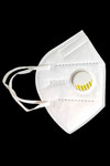 White Black KN95 Face Mask with Air Valve
