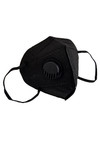 Black Black KN95 Face Mask with Air Valve