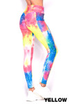 Scrunch Butt Tie Dye Textured High Waisted Leggings with Side Pockets