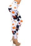 Right Side Image of Creamy Soft Daisy Extra Plus Size Leggings - 3X-5X - USA Fashion™