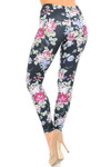 Creamy Soft Delightful Rose Extra Plus Size Leggings - 3X-5X - USA Fashion™