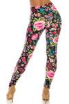 Creamy Soft Floral Oasis Plus Size Leggings - USA Fashion™