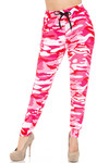 Buttery Soft Pink Camouflage Joggers - EEVEE