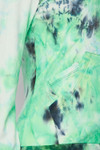 Close-up fabric swatch of Green Tie Dye 2 Piece Leggings and Hooded Jacket Set