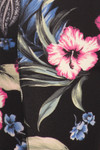 Close up swatch of High Waisted Graceful Floral Sports Leggings with Side Pockets