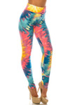 Buttery Soft Multi-Color-Bold Tie Dye High Waisted Leggings - Plus Size