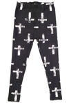 Buttery Soft Faded Cross Kids Leggings