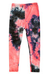 Buttery Soft Coral Tie Dye Kids Leggings