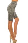 Heather Gray High Waist Sport Biker Shorts with Pockets