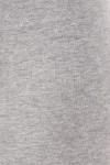 Close up fabric swatch of heather gray USA Cotton Capri Length Leggings