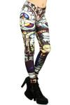 Mosaic Glass Leggings - Plus Size