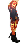 Burning Skeleton Leggings
