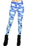 Blue Whale Leggings - Plus Size