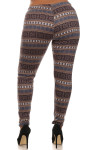 Snuggle Snowflake Fur Lined Leggings - Plus Size