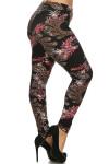 Dainty Floral Paisley Leggings - Plus Size