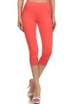 Coral USA Cotton Capri Lace Leggings