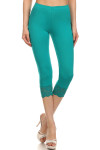 Mint USA Cotton Capri Lace Leggings