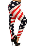 Spiral USA Flag Leggings - Plus Size